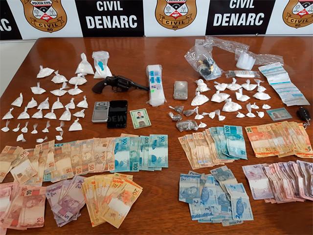 Três são presos por tráfico pelo Denarc em Porto Velho