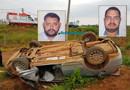 Dois homens morrem em grave capotamento na Estrada da Penal em Porto Velho