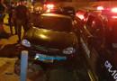 Motorista bêbado foge da PM e colide em viatura