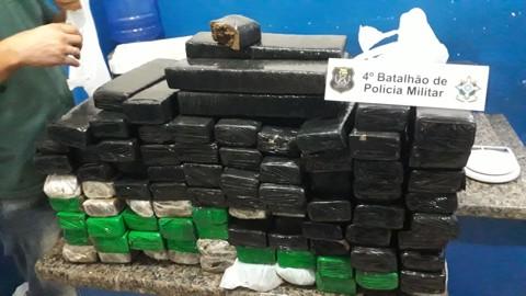 Ação da PRF e PM apreende quase 40 quilos de droga