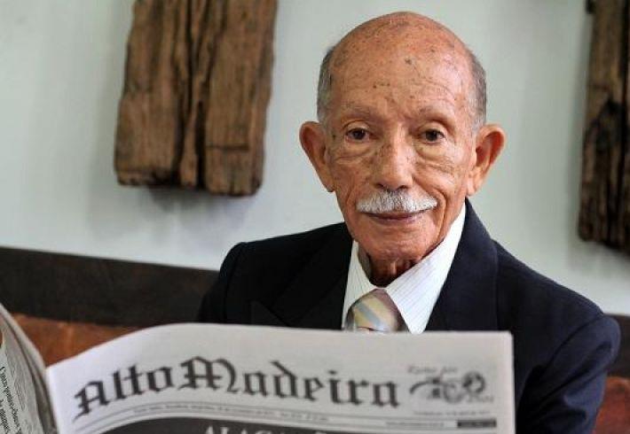 Morre o jornalista Euro Tourinho, aos 97 anos em Porto Velho
