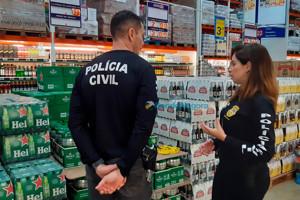 Delegacia e órgãos de defesa do consumidor realizam fiscalização na Capital