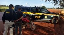 Em Itapuã do Oeste, PRF recupera moto roubada