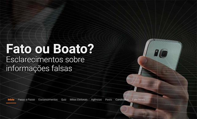 """TSE:Site """"Fato ou Boato?"""" alerta eleitorado sobre desinformação nas eleição"""