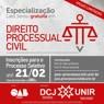 Unir realiza seleção para especialização em Direito Processual Civil