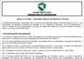 Prefeitura de Chupinguaia promove novo concurso com 66 vagas e salários de até R$ 5.292
