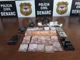 Trio é preso com drogas na Capital