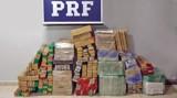 PRF apreende quase 400 quilos de maconha  e prende três