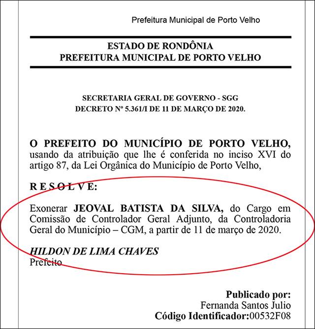 Acusado de contribuir para o desvio de R$ 11 milhões na gestão do PT é nomeado, através de portaria, para comandar a CGM