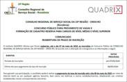 Após adiar provas, Conselho Regional de Serviço Social reabre inscrições para concurso com 29 vagas