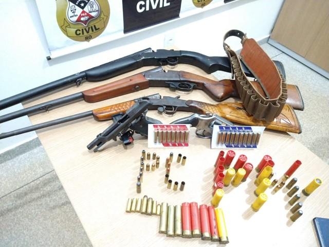 Polícia Civil Rolim de Moura prende homem com veículo furtado e armas de fogo