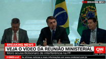 Ministro do STF libera divulgação de vídeo da reunião de Bolsonaro com Moro