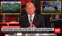 Manifestantes anti-Bolsonaro agem com violência e causam tumulto neste domingo