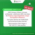 Ifro em Vilhena contrata professores substitutos em diversas áreas