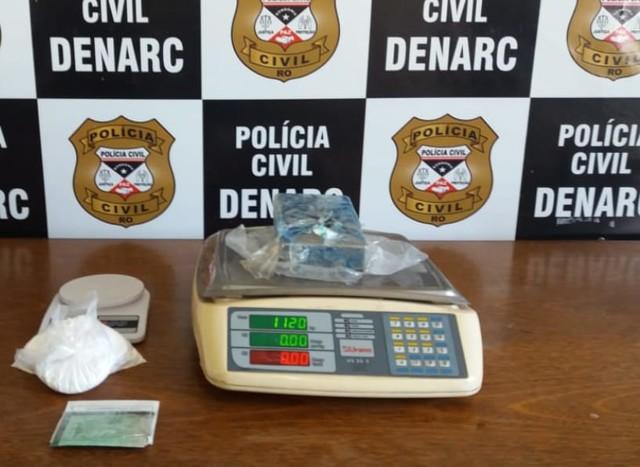 Polícia prende traficante e apreende drogas em Cacoal e Porto Velho