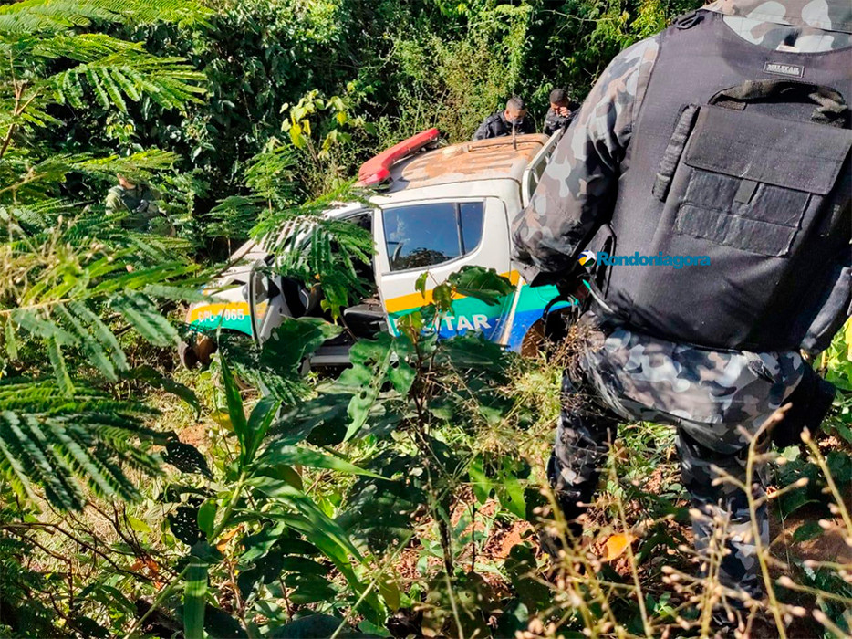 Acidente com viatura na BR-364, em Porto Velho