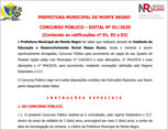Prorrogadas inscrições para o concurso da Prefeitura de Monte Negro