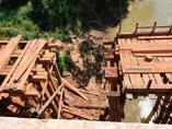 São Carlos e Calderita ficaram isolados por três dias após queda da ponte do Jacu da Vala