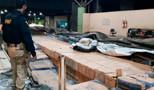 PRF apreende 2.400 litros de bebida alcoólica escondida em frete de cimento
