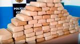 Polícia prende três com 80 quilos de cocaína