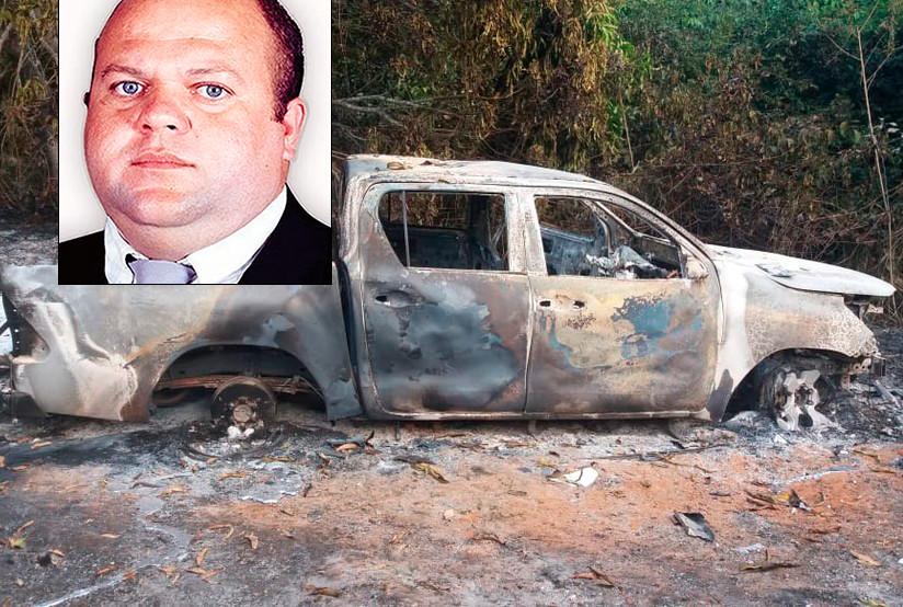 Corpo de ex-vereador é encontrado carbonizado em caminhonete