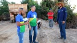 Sargento Eyder Brasil fiscaliza obra da Ponte sobre o Rio Urupá