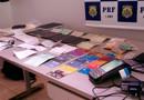 Vídeo: PRF em Rondônia prende trio especializado em falsificações; bando tinha até papel moeda