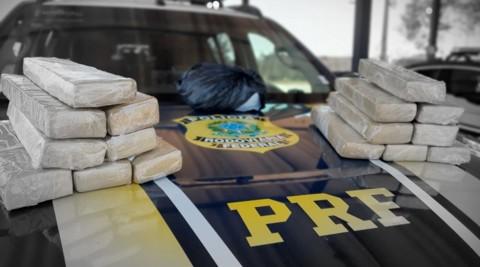 Mulher é presa pela PRF com 16 quilos de droga em Porto Velho