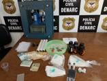 """Denarc prende traficante em """"laboratório de refino"""""""