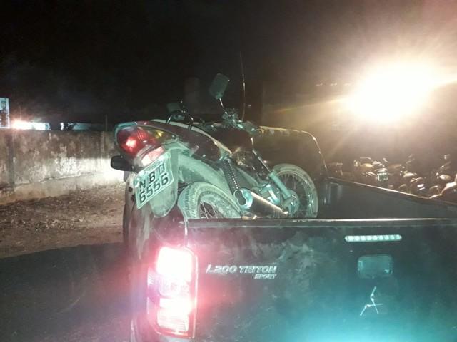 Após acidente, Polícia apreende moto roubada