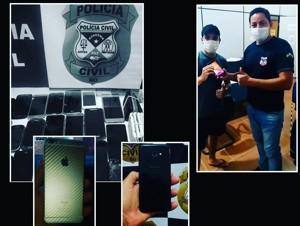 Delegacia bate recorde de celulares recuperados na Capital