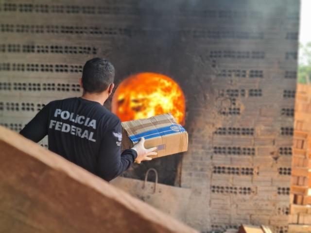 PF incinera mais de 140 quilos de drogas em Porto Velho