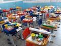 Colégio Tiradentes devolve material que alunos usariam esse ano em salas de aula