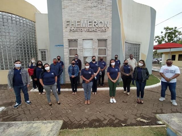 Assessores do deputado Alex Silva se mobilizam para doação de sangue na Fhemeron