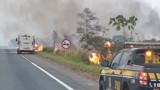 PRF detém homem que causou incêndio nas margens da BR-364