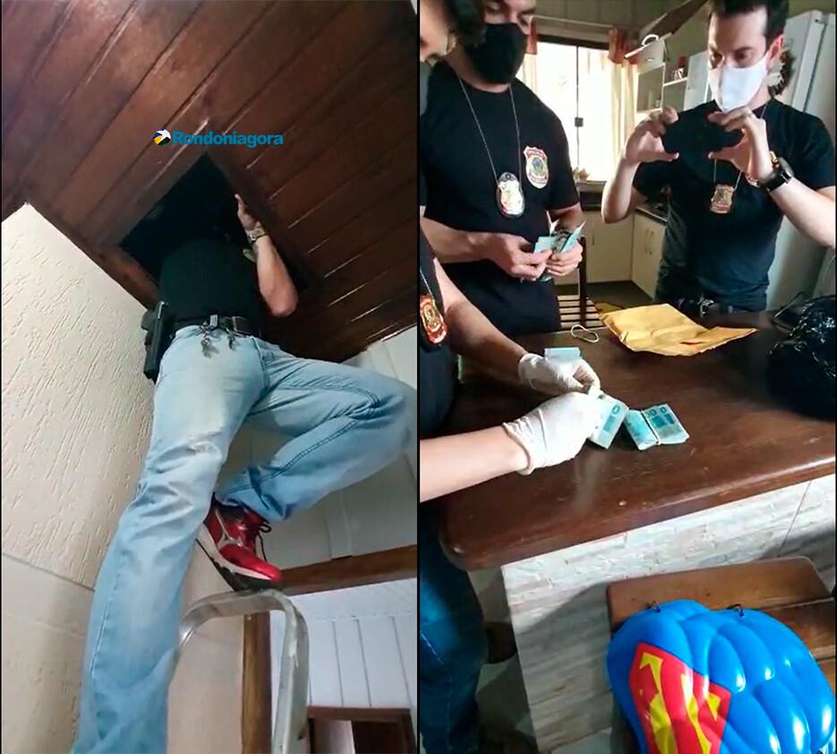 Vídeo: PF encontra dinheiro no forro da casa da prefeita Lebrinha