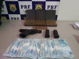 PRF prende homem com pistola grande quantidade de munições