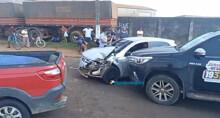 Idosa fica ferida em acidente envolvendo cinco veículos em Porto Velho