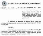Sai o decreto que adia feriado do aniversário de Porto Velho para 5 de janeiro