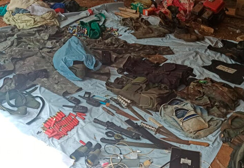 Operação em Mutum-Paraná prendeu 7 pessoas e apreendeu munições, armas brancas e coletes; fotos