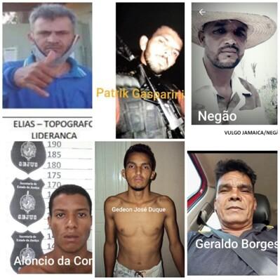 Foragidos; Veja suspeitos de participação nos assassinatos de policiais; denuncie