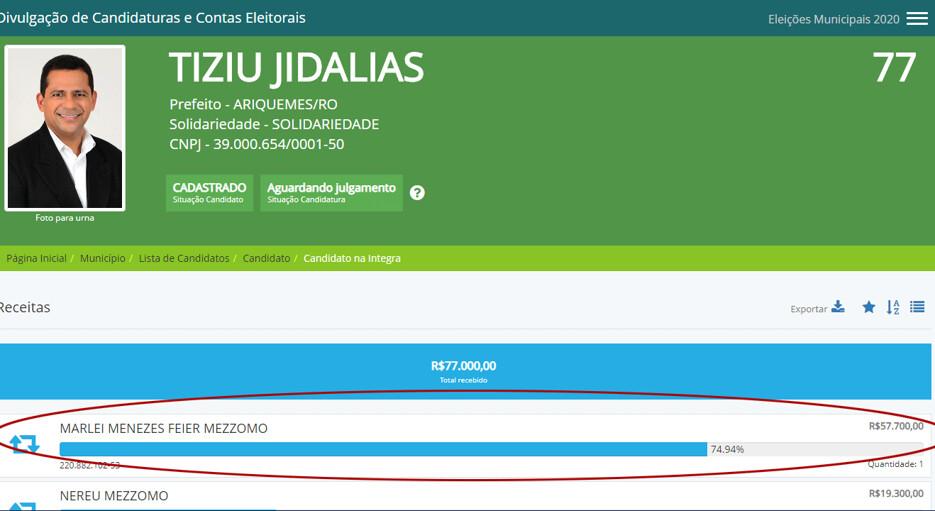 Candidata a vice em Ariquemes declara R$ 9 mil de bens, mas doa R$ 57 mil para a própria campanha