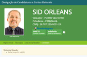 Registro de candidatura do ex-secretário Sid Orleans é indeferido