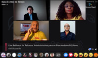 Presidente da CNTE critica PEC 32/2020 em live do Fórum Rondoniense sobre a Reforma Administrativa