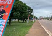 Justiça manda Breno Mendes retirar propaganda de canteiros centrais de Porto Velho