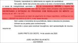 """Ouro Preto: Contrariando """"fake news"""", chapa Testoni e Peragibe está na disputa e registro da candidatura foi deferido pela Justiça"""
