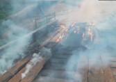 Ponte do Jacu da Vala é incendiada pela 4ª vez e isola comunidades em Porto Velho