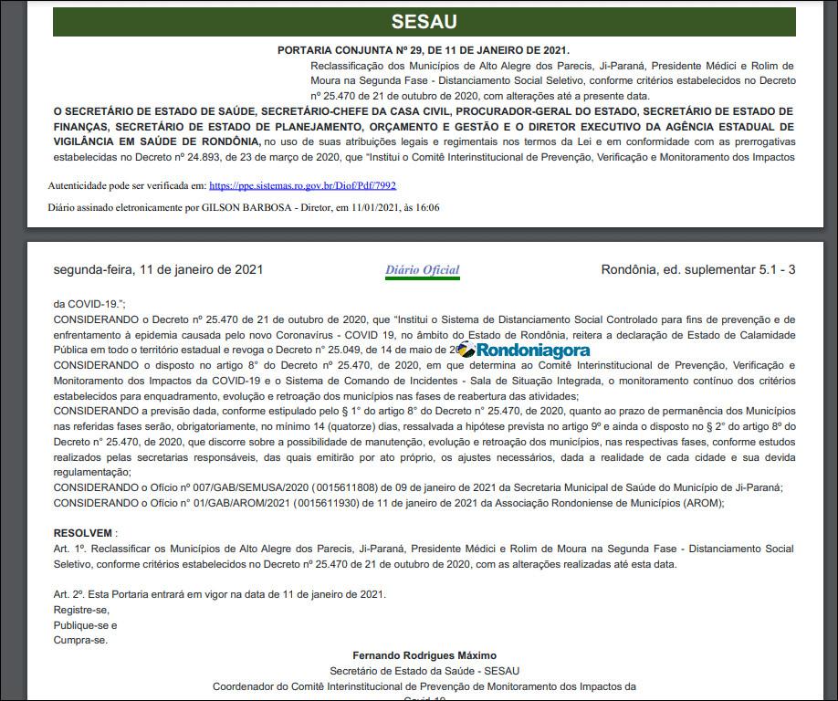 Governo cede e reclassifica quatro municípios para a fase 2