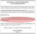 Prefeito Isaú Fonseca nomeia advogado particular para representar Ji-Paraná em Porto Velho