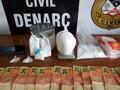 Apos denúncias, traficante é preso com drogas em casa